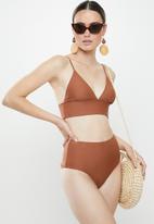 Vero Moda - Marta swim top - brown