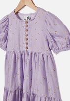 Cotton On - Meredith short sleeve dress - purple