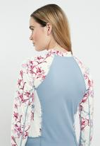 Lizzy - Renisha floral upf long sleeve rash vest - multi