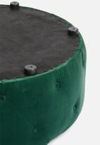 Sixth Floor - Molsey buttoned ottoman - emerald