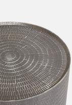 Sixth Floor - Etched drum coffee table - grey
