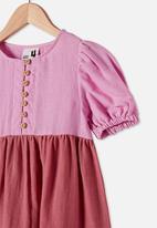 Cotton On - Meredith short sleeve dress - purple paradise gradient