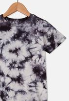Cotton On - The cruz short sleeve long line tee - phantom tie dye