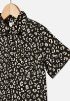 Cotton On - Resort short sleeve shirt - leopard print phantom