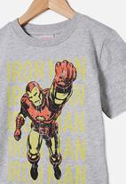 Cotton On - Co-lab short sleeve tee - grey marle Iron Man
