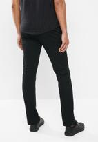 Jonathan D - Stretch trouser with side entry pockets - black