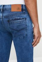 Jonathan D - Five pocket denim slim fit jeans - blue