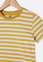 Cotton On - Core short sleeve tee - honey gold & white stripe