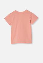 Cotton On - Jamie short sleeve tee - smoked salmon