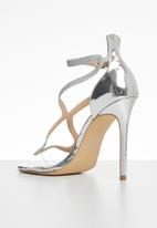 Plum - Machiko heel - silver