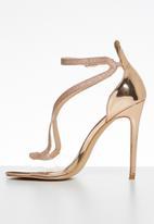 Plum - Machiko heel - gold