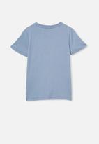 Cotton On - Stevie short sleeve embellished tee - dusty blue