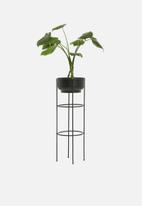 H&S - Tall standing planter - black