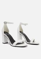 Cotton On - San square toe heel - white