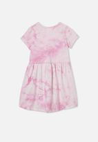 Cotton On - Freya short sleeve tie dye dress - purple