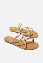 Cotton On - Reese braided slide - gold