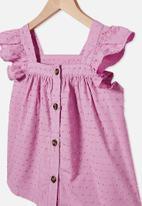Cotton On - Polly placket sleeveless top - purple paradise