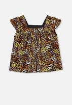 Cotton On - Polly placket sleeveless top - phantom floral fields