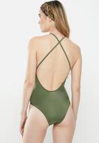 STYLE REPUBLIC - Criss cross one piece - green