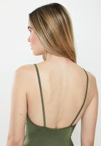 STYLE REPUBLIC - Strappy high leg one piece - green