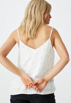 Cotton On - Astrid cami - Ellie ditsy white & pale blue