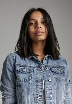 Cotton On - Girlfriend denim jacket - cabarita blue