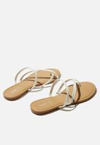 Cotton On - Everyday strappy toe loop slide - white pu
