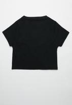 Superbalist - Printed crop tee - black