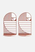 Emerging Creatives - Golden ratio bookend set of 2 - oxide red
