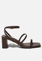 Cotton On - Layla block heel - brown