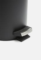Bathroom Solutions - Powder coated pedal bin - black
