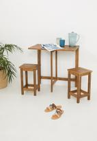 H&S - Acacia wood outdoor set - natural