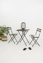 H&S - Bistro wooden furniture set - brown