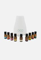 OCO Life Pty Ltd - Small - White Diffuser with Complete Range of 9 Oils