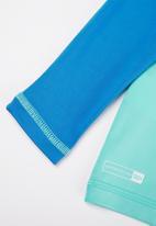 Quiksilver - Tropical bubble long sleeve rash vest - blue