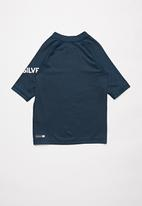 Quiksilver - All time short sleeve rash vest - navy