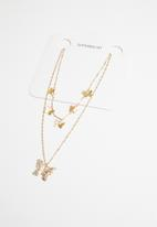 Superbalist - Layered butterfly necklace - gold