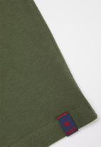 SOVIET - Boys short sleeve logo tee - green