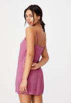 Cotton On - Woven Kye strappy mini dress - magenta
