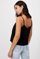 Cotton On - Amy V-neck cami - black