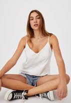 Cotton On - Amy V-neck cami - white