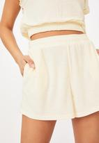 Cotton On - Terry towelling short - seashell white
