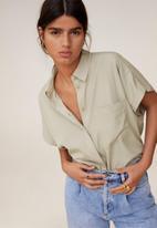 MANGO - Shirt eliza - grey
