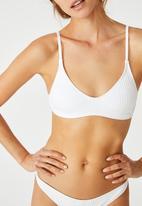 Cotton On - U crop bralette bikini top - white
