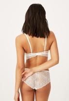 Cotton On - Summer lace longline push up - cream