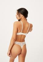 Cotton On - Summer lace unlined strapless - cream