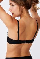 Cotton On - Summer lace unlined strapless - black