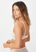 Cotton On - Summer lace underwire bra - cream