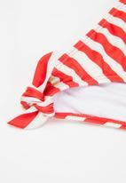 Billabong  - Free babe knotted tank bikini set - red & white