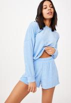 Cotton On - Terry towelling short - poolside blue